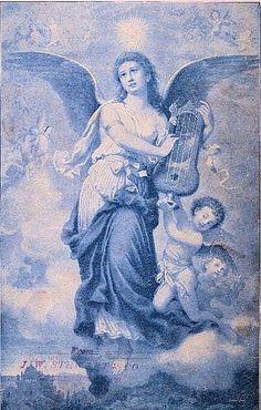 Beautiful Blue Angel - The Graphics Fairy