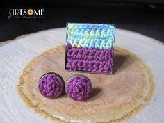 #crochet #jewellery #ring #earrings #set #jewelryset #bohochic #trendy #squarering #purple #turquoise Crochet Jewellery, Square Rings, Crochet Things, Ring Earrings, Jewelry Sets, Boho Chic, Shops, Community, Turquoise