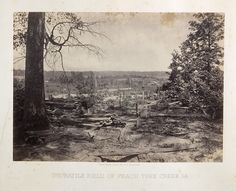 George Barnard's photograph of the Peach tree Creek battle field in the American Civil War.