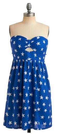blue sundress stars adorable