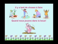 """Le printemps"" from Matt Maxwell's book ""Let's Sing and Learn in French""--a cute rhyming song about springtime images and activities.  The simple video provides clear illustrations of the key vocabulary with onscreen lyrics."