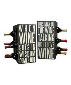 Look at this #zulilyfind! Box Sign Wine Rack #zulilyfinds
