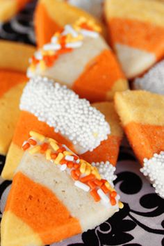 Candy Corn Sugar Cookies  great for a halloween theme wedding