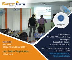 #Students, graduates and #professionals are you looking forward for #NEBOSH IGC Training course? This is the right time to join @SafetyCatch.  For Online Registration: http://bit.ly/1rO8VEz Contact us for details:http://bit.ly/1nSPybO