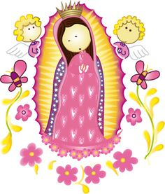 Gifs y Fondos PazenlaTormenta: IMÁGENES DE LA VIRGEN DE GUADALUPE PARA NIÑOS Catholic Religion, Catholic Saints, Roman Catholic, Retreat Gifts, Baptism Cookies, Girl Background, Blessed Virgin Mary, Blessed Mother, Mother Mary