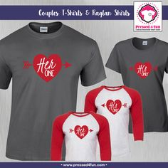 Valentine's Day Shirts | One & Only Design | Pressed 4 Fun | Valentine's Day Gifts