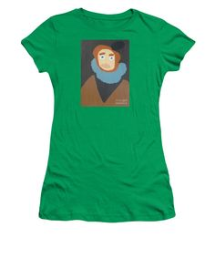 Patrick Francis Kelly Green Designer Junior T-Shirt featuring the painting Portrait Of Maria Anna - After Diego Velazquez by Patrick Francis