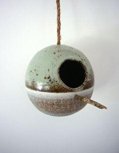 birdhouse   heather levine ceramics...I love the glazes