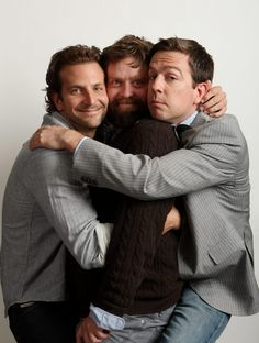 Bradley Cooper,Zach Galifianakis, Ed Helms The Hangover. Good Lord- I Love this pic, look at their faces!!