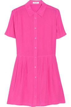 Naomi washed-silk mini dress by Equipment