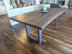 Modern Natural edge Dining table  Kitchen table