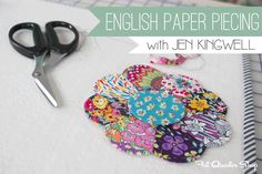 English Paper Piecing with Jen Kingwell - Fat Quarter Shop's Jolly Jabber
