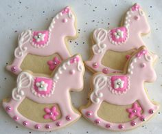 Rocking Horse Cookies - Baby Shower Cookie Favors - 1 Dozen