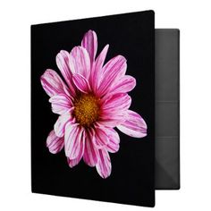 Chrysanthemum Flower Ring Binder - home gifts ideas decor special unique custom individual customized individualized