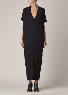 Zero + Maria Cornejo Long Koya Dress (Black)