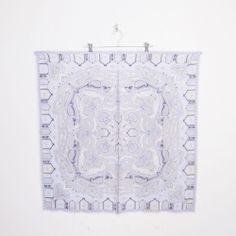 #Vintage OSCAR DE LA RENTA #BAROQUE #PAISLEY print 100% #SILK LARGE square neck #scarf #OscarDeLaRenta #Blue #PaisleyScarf #SilkScarf #Ebay #TrashyVintage $29.99