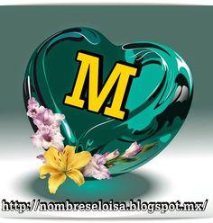 FrasesparatuMuro.com: Corazón verde con Iniciales