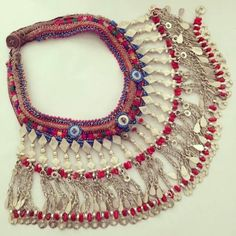 Gypsy River, OOAK Tribal Necklace