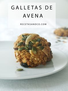 Galletas Copos de Avena | Recetas and Co. (www.recetasandco.com) #avena #cookies #galletas #vegan #oatmeal