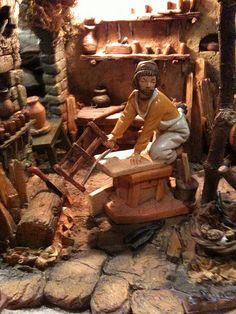 Fontanini wood shop scene.