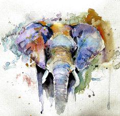 Splash Of Colour Painting  - Splash Of Colour Fine Art Print http://fineartamerica.com/featured/elephant-impression-rosalina-atanasova.html http://fineartamerica.com/featured/wild-in-samburu-stephie-butler.html http://fineartamerica.com/featured/elephant-watercolor-portrait-fabrizio-cassetta.html http://fineartamerica.com/art/paintings/elephant/all?page=6