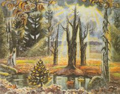 "Charles Burchfield, ""October in the Woods"" 1938"
