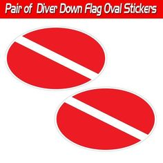 "Flares Decal Red Marine Boat Safety 3.5/"" Stickers Pair"