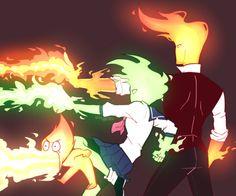 Undertale,фэндомы,Grillby,Undertale персонажи,Fuku Fire,Heats Flamesman