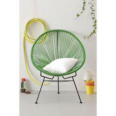 Firenze garden chair - green clothesline, Acapulco style. 85 euros.