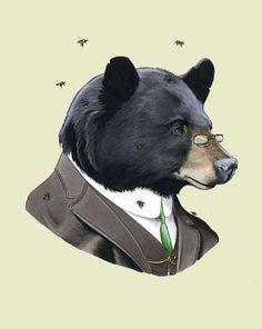 Gentlemanly Animal Makeovers - The Ryan Berkley Illustration Series Shows a Dapper Side of Wildlife