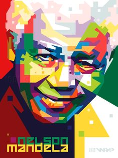 Madiba in WPAP by icalsaid on deviantART