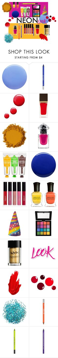 """""""neon"""" by susibonvi ❤ liked on Polyvore featuring beauty, Smith & Cult, Urban Decay, Topshop, Tom Ford, Guerlain, Skin&Co Roma, Lauren B. Beauty, Boohoo and Deborah Lippmann"""