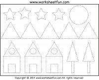 Shape Tracing - 2 Worksheets