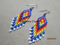 Native American Fiesta beaded earrings by EagleplumeCreations