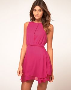 V-Day is right around the corner...ASOS Sleeveless Mini Dress With Double Skirt