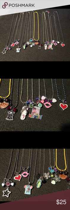 Necklace party favors for teens/kids new lot of 12 Necklace party favors for teens and kids. Handmade. A lot of 12. Each one unique and one-of-a-kind. Great for nieces, Christmas, gifts, friends, parties, social events, birthdays, etc. Different size chains and different types of chains and clasps. Amazing price for all that you are receiving. Also check out my other items to combine shipping for one low shipping price. Jewelry Necklaces