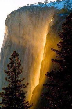Magical Photo of Yosemite's Horsetail Fall More Photos  https://plus.google.com/u/0/+JohnKurfees/posts/BXctCE7AU7j  #landscape #outdoors #waterfalls #mountains #photography #kurfees #jkurfees #johnkurfees #johnkurfees7