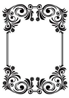 Crafts Too – Embossing Folder – Floral Background – bilderrahmen Stencil Patterns, Embroidery Patterns, Stencils, Parchment Craft, Borders And Frames, Arte Floral, Border Design, Flower Frame, Embossing Folder