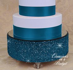12 Bling cake stand  Glitter cake stand by OccasionsonaBudget, $75.00
