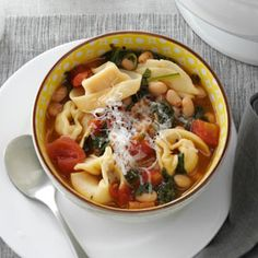 Christmas Tortellini & Spinach Soup Recipe from Taste of Home -- shared by Marietta Slater of Justin, Texas