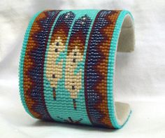 Amazing Beaded Bracelets from Desert Sage.  Thumbnail of Southwestern Beaded Cuff Bracelet 1617