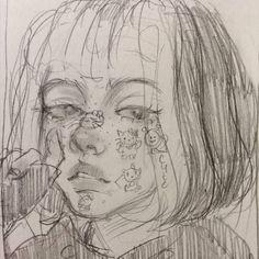 Indie Drawings, Art Drawings Sketches Simple, Pencil Art Drawings, Aesthetic Drawings, Art Inspiration Drawing, Drawing Ideas, Art Inspo, Trash Art, Grunge Art