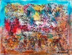 Landscape I 80x60 cm 1.499 dkk - Art by Lønfeldt - Art original acrylic abstract paintings