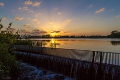 Solopgang over Engsøen ved Grindsted den 3/6 2015