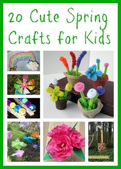 Cute Spring Crafts For Kids