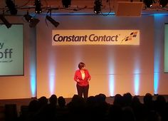 Our CEO Gail Goodman speaking at our 2014 company kickoff!