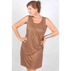 PRE-ORDER - Jersey Twist Sleeveless Mini Dress (Brown) $52.00 http://www.curvyclothing.com.au/index.php?route=product/product&path=95_97&product_id=9617
