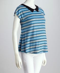Look at this #zulilyfind! QT Maternity Blue Stripe Maternity Top by QT Maternity #zulilyfinds