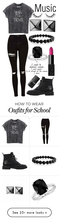 """""""School in 1 hour and 26 minutes!!!"""" by muslc on Polyvore featuring Giuseppe Zanotti, Bling Jewelry, Topshop, NARS Cosmetics, Waterford and Blue Nile"""