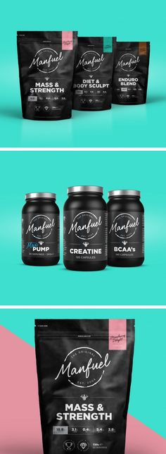 Manfuel by branding packaging product design Black Packaging, Cool Packaging, Food Packaging Design, Coffee Packaging, Coffee Branding, Packaging Design Inspiration, Branding Design, Chocolate Packaging, Bottle Packaging